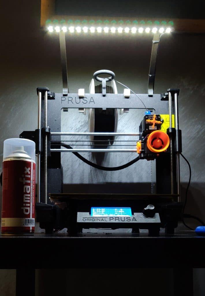 éclairage pour imprimante