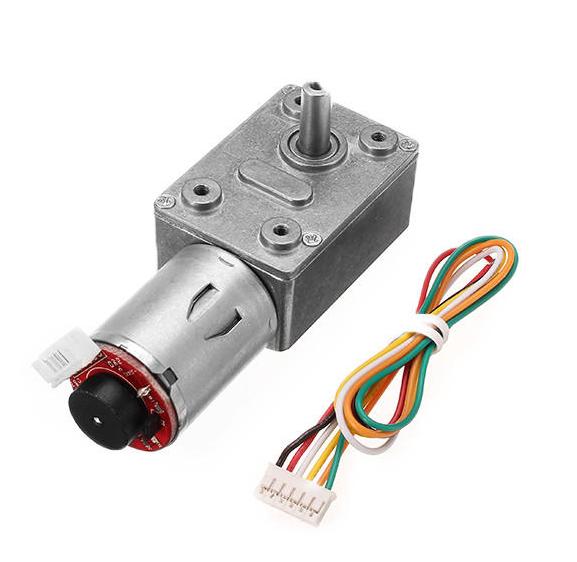 motor con engranaje de gusano y codificador de CC 12V