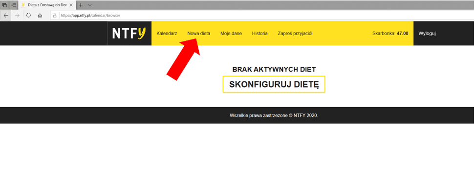 nowa dieta nice to fit you aplikacja webowa